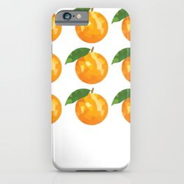 orange 3x3 pattern, fill, repeating, tiled | elegant iPhone Case