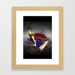 atomic bombshell Framed Art Print