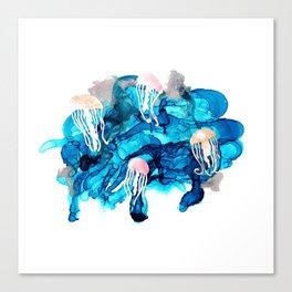 alcohol ink - jellyfish Canvas Print