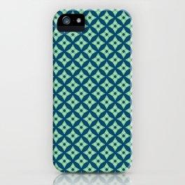 green&blue star pattern iPhone Case