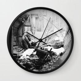 barrel sauna stories Wall Clock