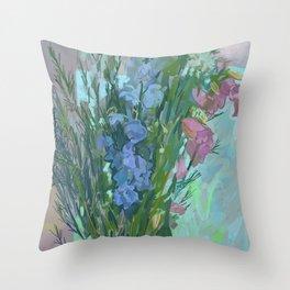Lisa's Bluebell Throw Pillow