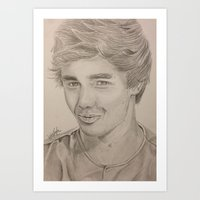 liam payne Art Prints featuring Liam Payne by vanessa