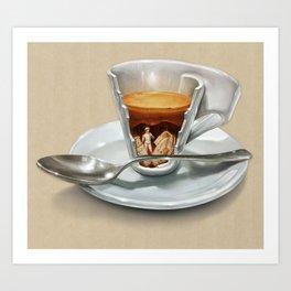 Italian coffee 2.0 Art Print