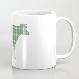 Cow: Green Plaid Coffee Mug