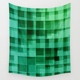 green squares pattern Wall Tapestry