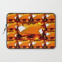 Golden Topaz Gems Pattern Abstract Laptop Sleeve