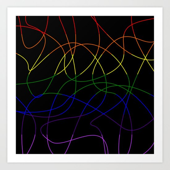 Abstract Threads – LGBTQ Pride Flag by stephobrien