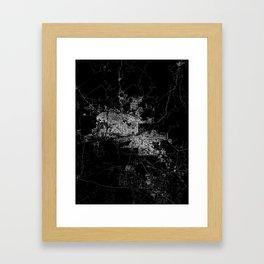 phoenix map Framed Art Print