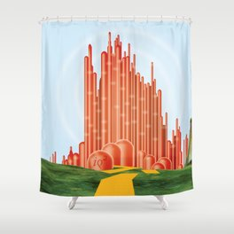 For A Better Future, Live In A Red State Shower Curtain