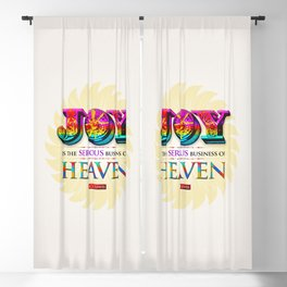 Serious Joy Blackout Curtain