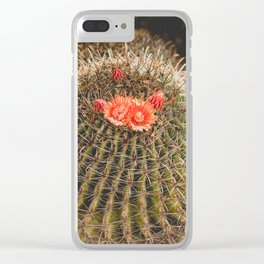 Cactus Blossom Clear iPhone Case