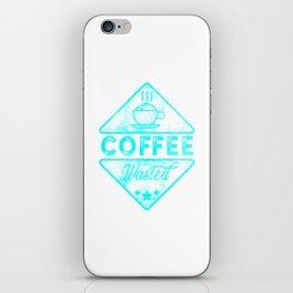 Cute & Funny Coffee Wasted Retro Neon Pun iPhone Skin