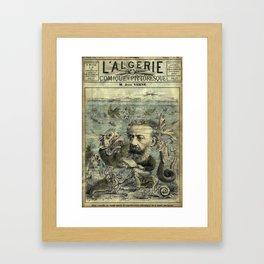 Vintage Jules Verne Periodical Cover Framed Art Print