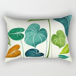 Rainforest Hike / tropical leaf collection Rectangular Pillow