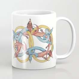 Dragons and Snakes Entwined Eternal Coffee Mug