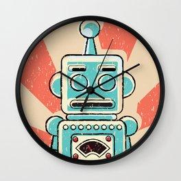 Retro Robot Wall Clock