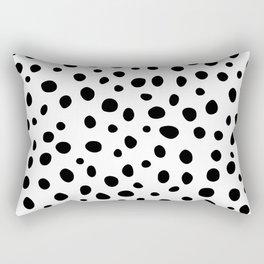 Dots Black and White Rectangular Pillow