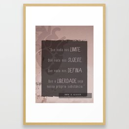 Simone de Beauvoir Liberdade Framed Art Print