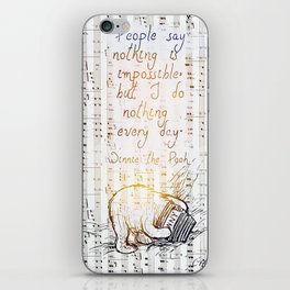 Winnie the Pooh quote iPhone Skin