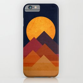 Full moon and pyramid iPhone Case
