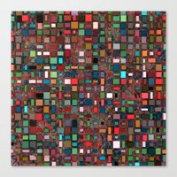 mosaic Canvas Prints featuring Mosaic by Lyle Hatch