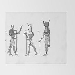 Gods of ancient Egypt Throw Blanket