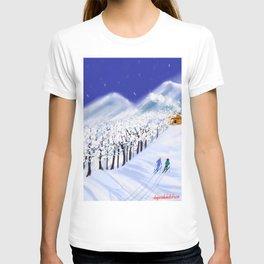 Christmas Skiers  T-shirt