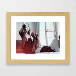 Naughty Emma Framed Art Print