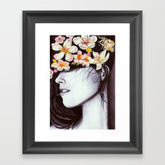 hair garden Framed Art Print