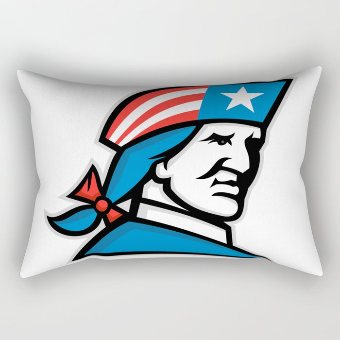 American Patriot Head USA Flag Mascot Rectangular Pillow