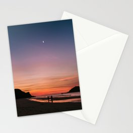 Tropical Moonlit Beach Sunset in the Philippines Stationery Cards