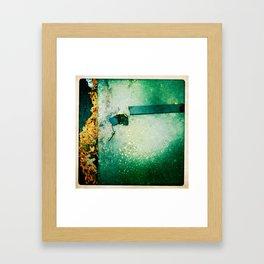 working leaves Framed Art Print