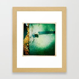 working leaves Framed Art Print