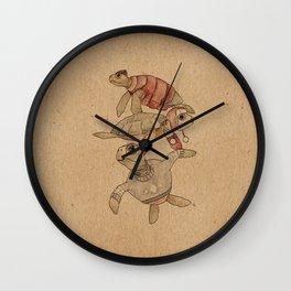 Winter Sea Turtles Wall Clock