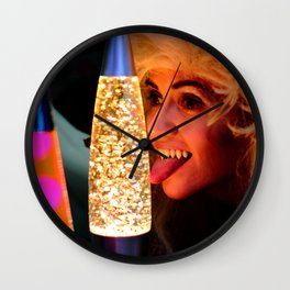 From A Proud Vampire Lineage of Qualified Lava Lamp Inspectors Wall Clock