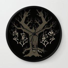 Headbangers Tree Wall Clock