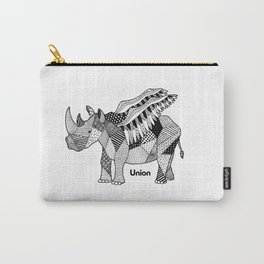 Illustrated Rhino – Union – Black Carry-All Pouch