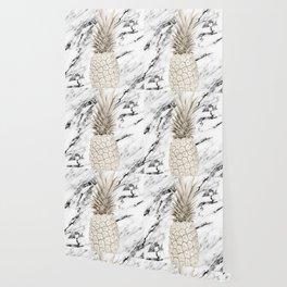 Marble Pineapple Wallpaper
