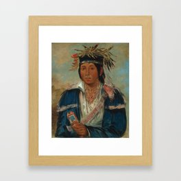 George Catlin - No English, a Dandy Framed Art Print