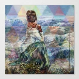 Sinew Moon Mountain Majesty Canvas Print