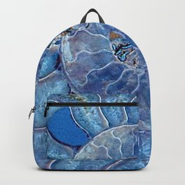 Blue seashell -mother-of-pearl - Beautiful backdrop Backpack
