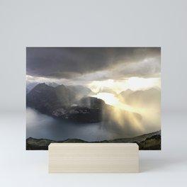 before the sunset and thunderstorm arrive. Mini Art Print
