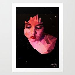 Low-poly portrait Art Print