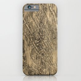 Vintage Pictorial Map of San Jose CA (1869) iPhone Case