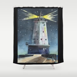 Ludington Light Shower Curtain