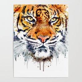 Tiger Face Close-up Poster
