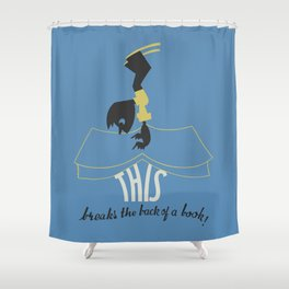 Back of a Book Shower Curtain