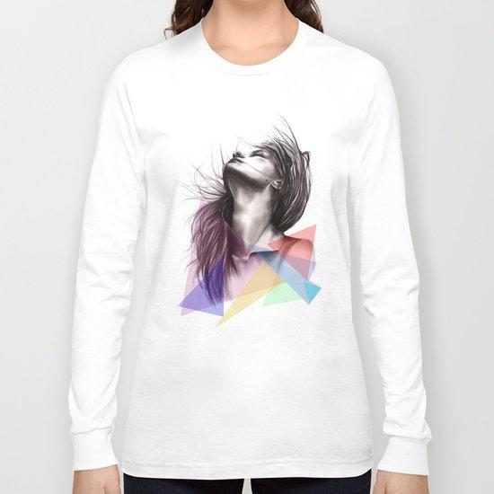 Crystalised // Fashion Illustration  Long Sleeve T-shirt