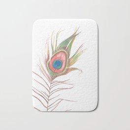 Peacock Bird Feather Art Bath Mat